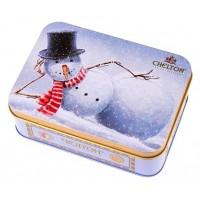 Chelton (Челтон) Шкатулка Снеговик 50г. чёрный чай (Шри-Ланка)