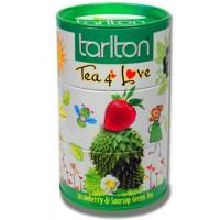 Tarlton Tea 4 Love 100г. зелёный Клубника Соусеп (Шри-Ланка)
